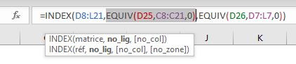 Index/Equiv EQUIV pour numéro de ligne