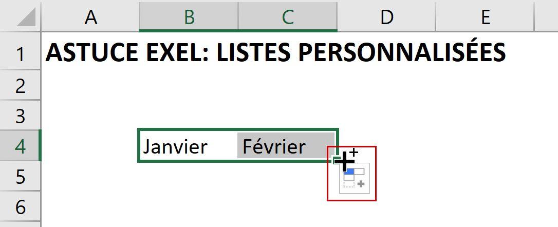 Listes personnalisées dans Excel