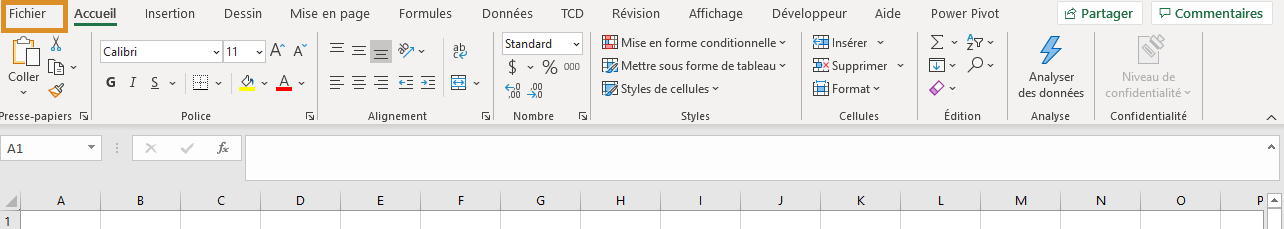 Excel - Appareil photo - Fichier