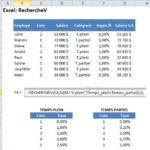 Excel: Recherchev sur 2 tables