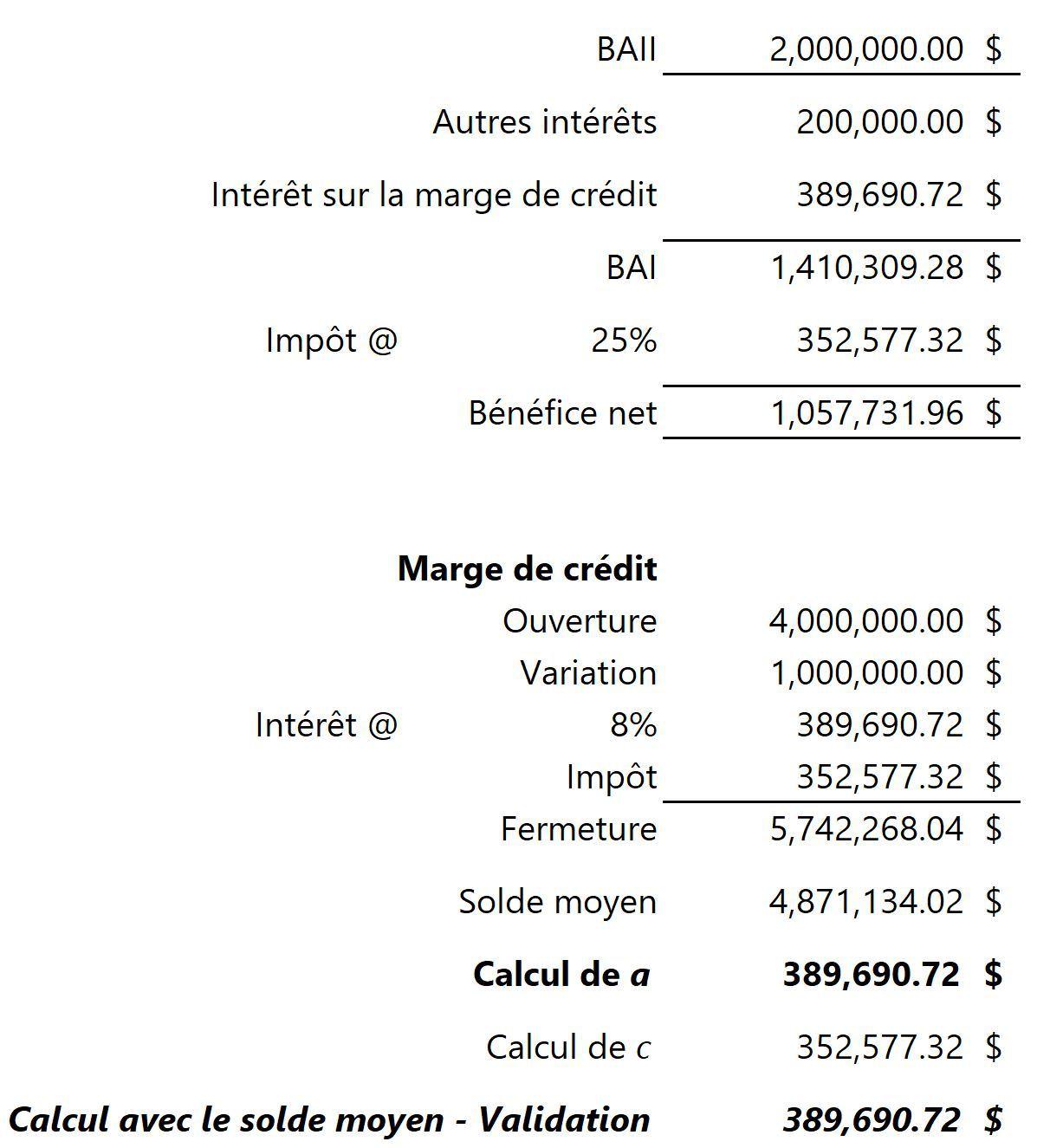 Calcul de référence circulaire dans Excel