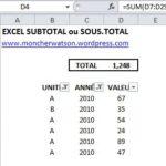 Astuce Excel : Faire la somme des données filtrées
