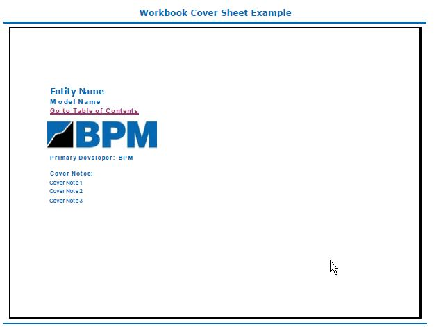 Workbook cover sheet example