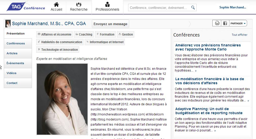 Tag Conférences profil