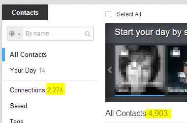Linkedin contacts vs connections
