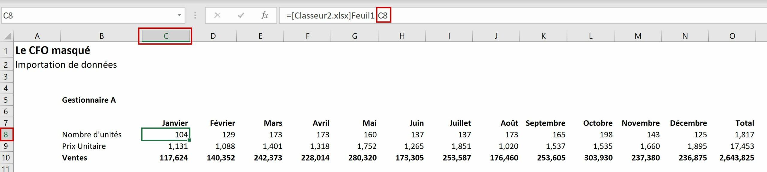 Importation de données dans Excel