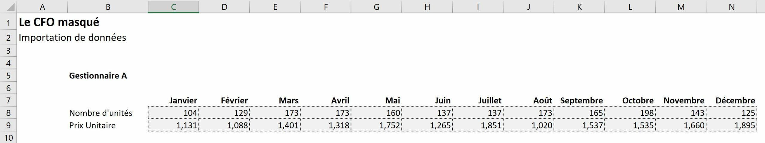 Exportation de données dans Excel