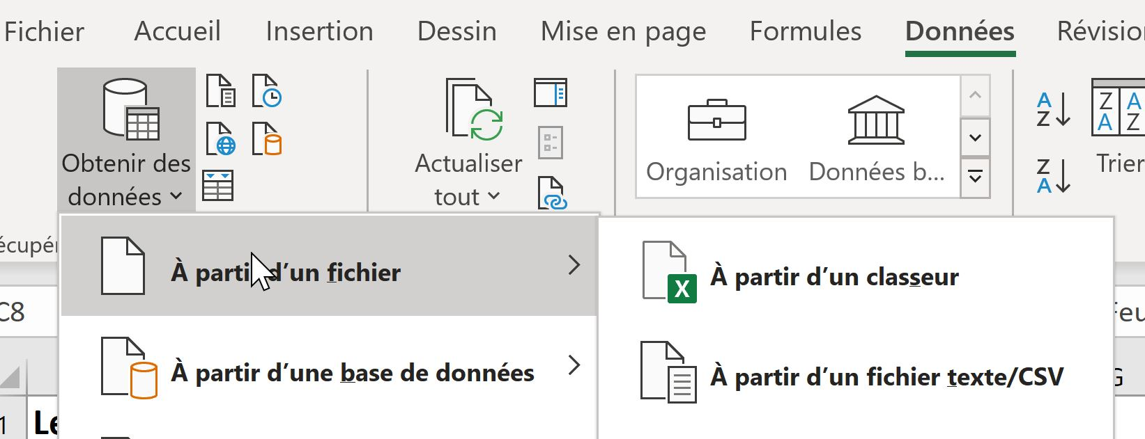 Importer un fichier Excel avec Power Query