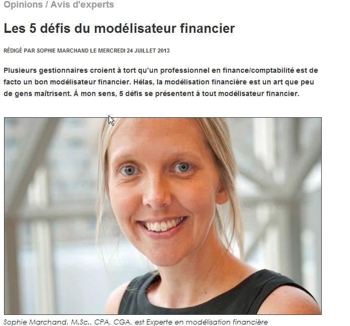 Les 5 défis du modélisateur financier