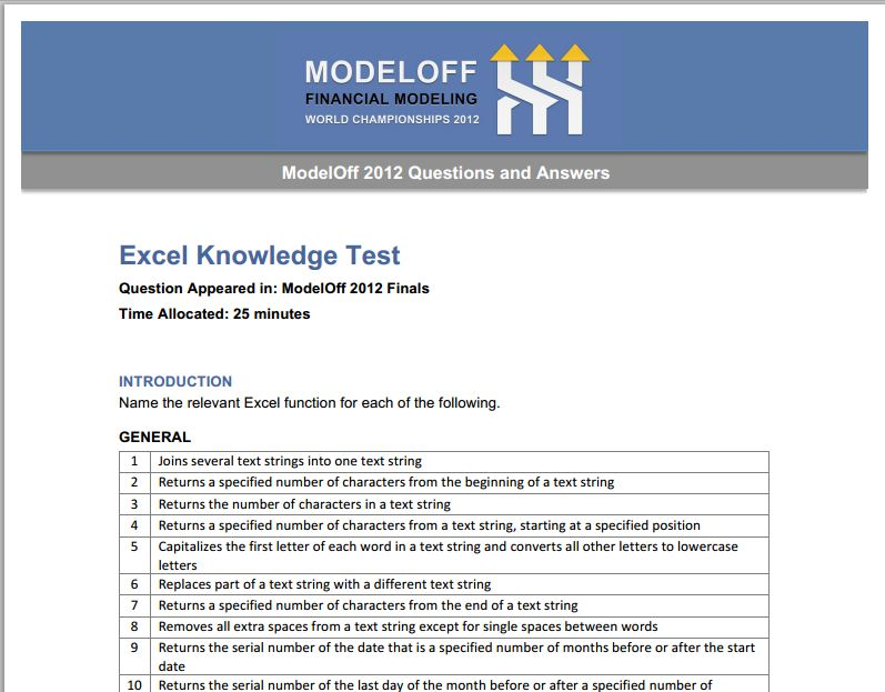 ModelOff2012_Excelquestions