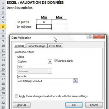 Validation données 5