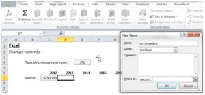 Excel: Champs nommés