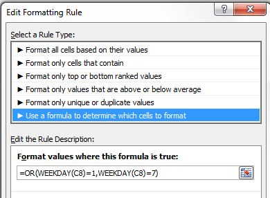 Format conditionnel Excel