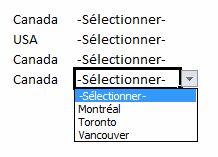 Validation de données listes