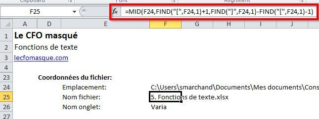 Nom du fichier