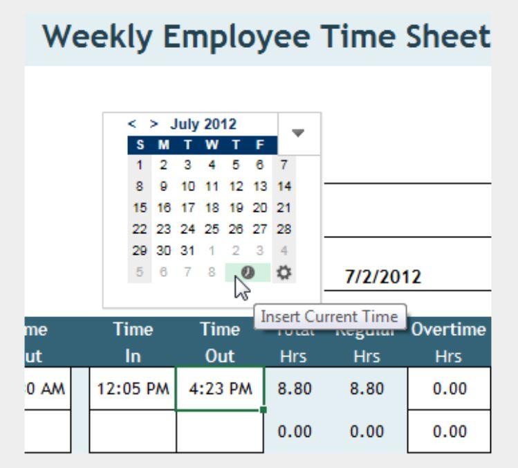 Application du complément Excel Date Picker