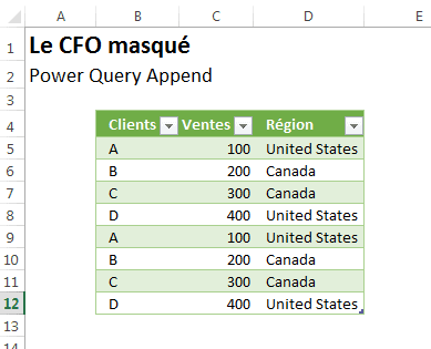 PowerQuery Append