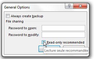 Excel: Sécurité
