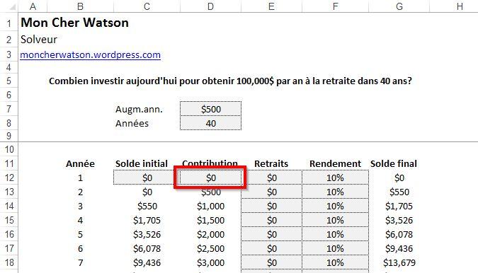 Excel - Solveur
