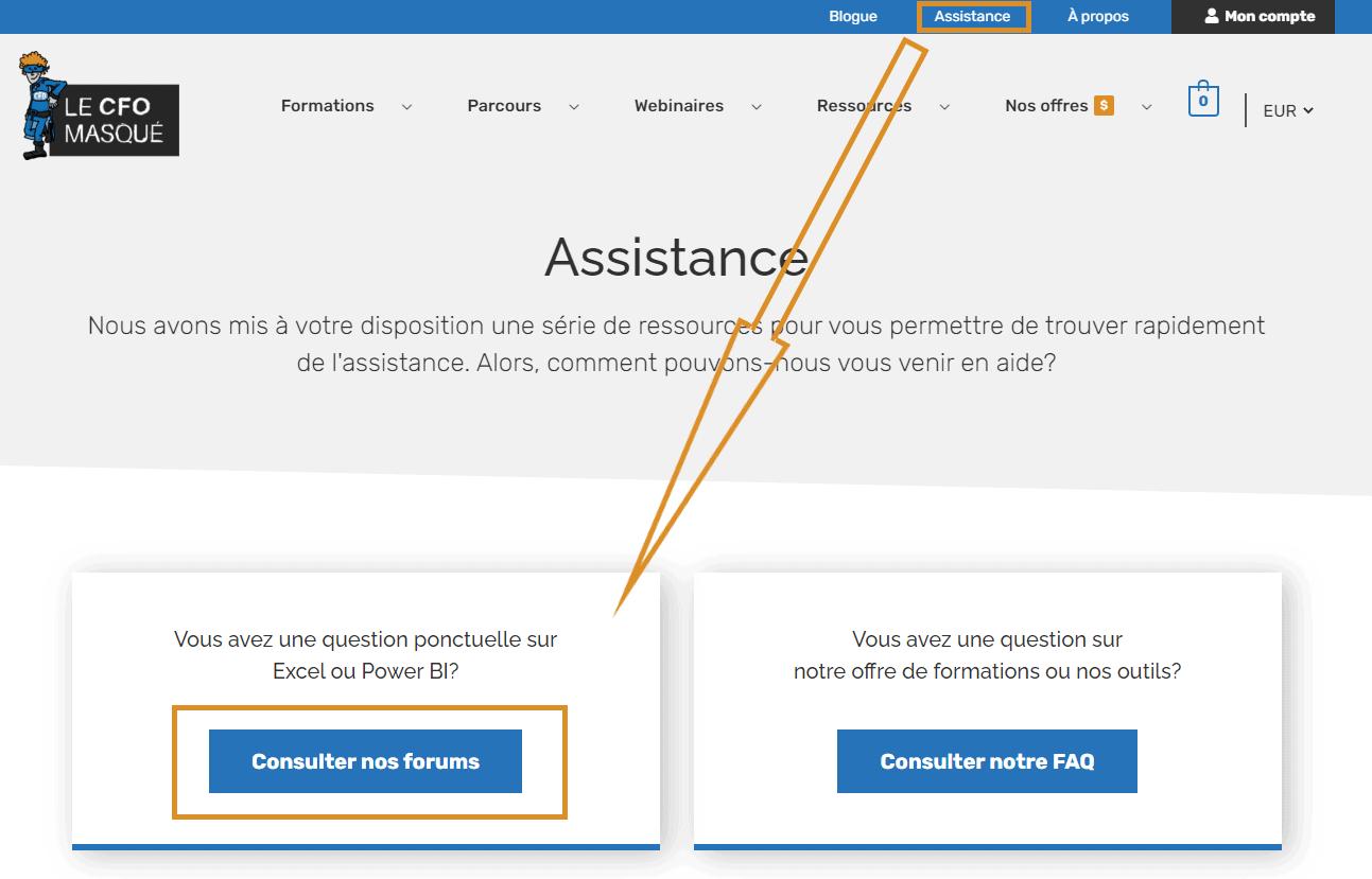 Comment accéder au forums du CFO masqué