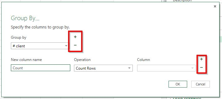 Power Query Options Grouper