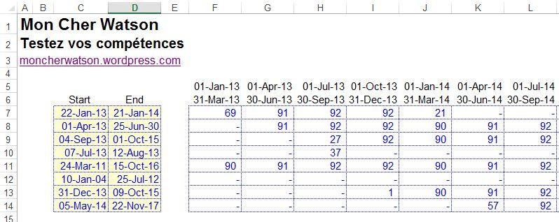 Excel: Fonctions dates