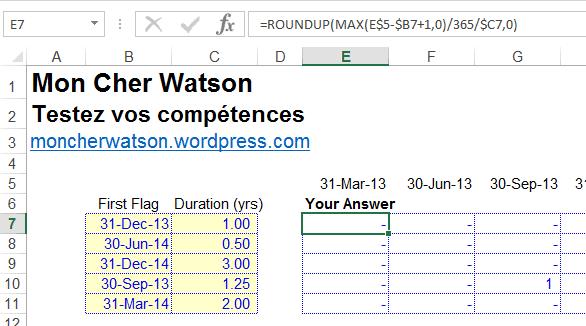 Défi Excel ModelOff