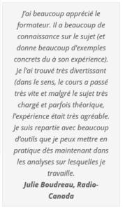 Commentaire Julie Boudreau
