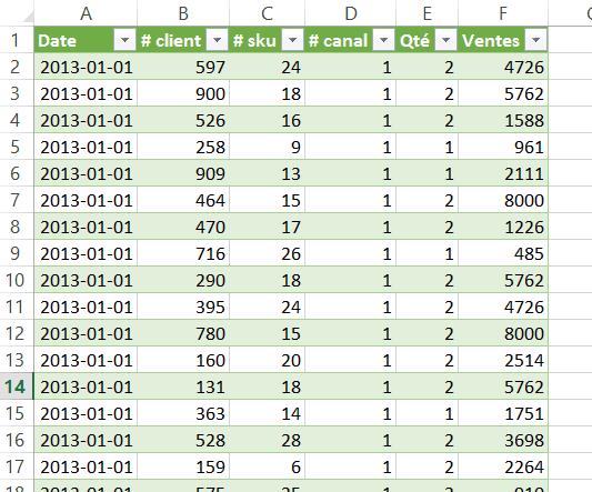 Power Query - Liste de validation