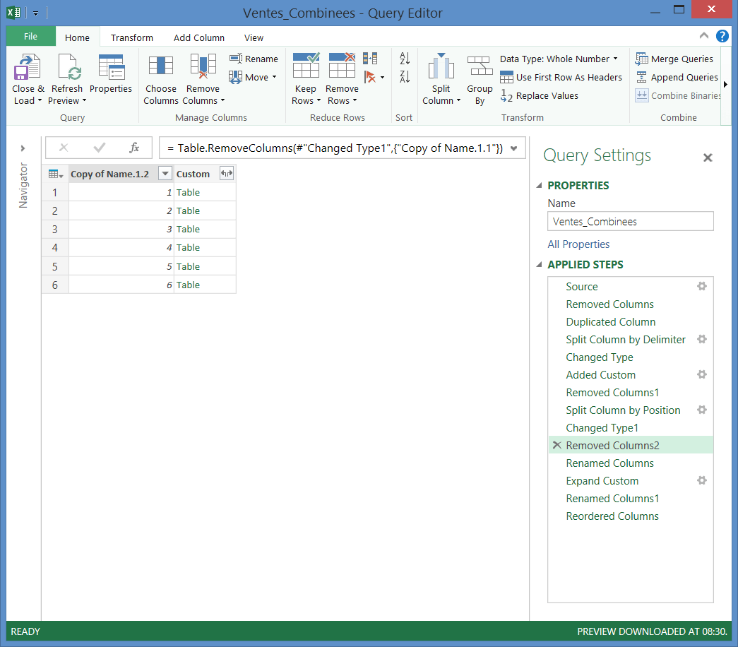Power Query: Code M