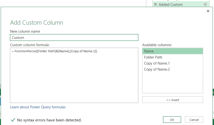 Power Query Code M
