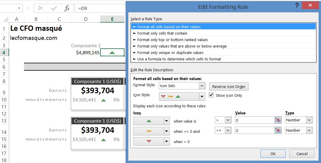Excel : Calculs d'écarts