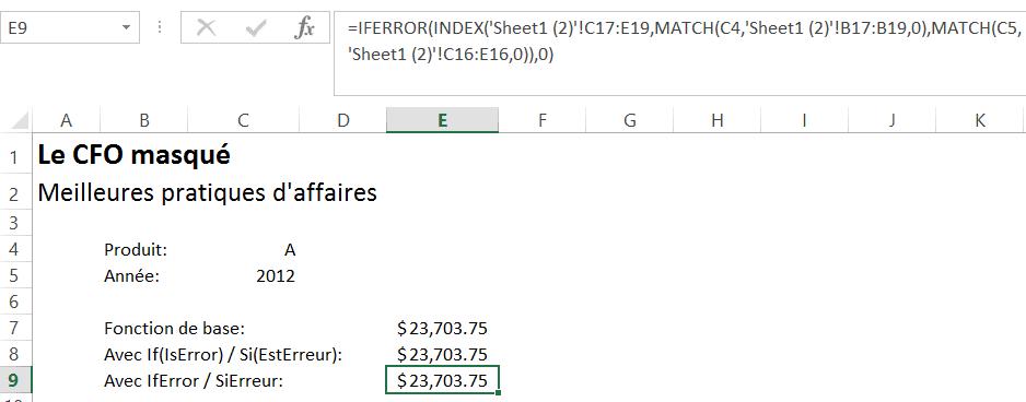 Iferror / Sierreur
