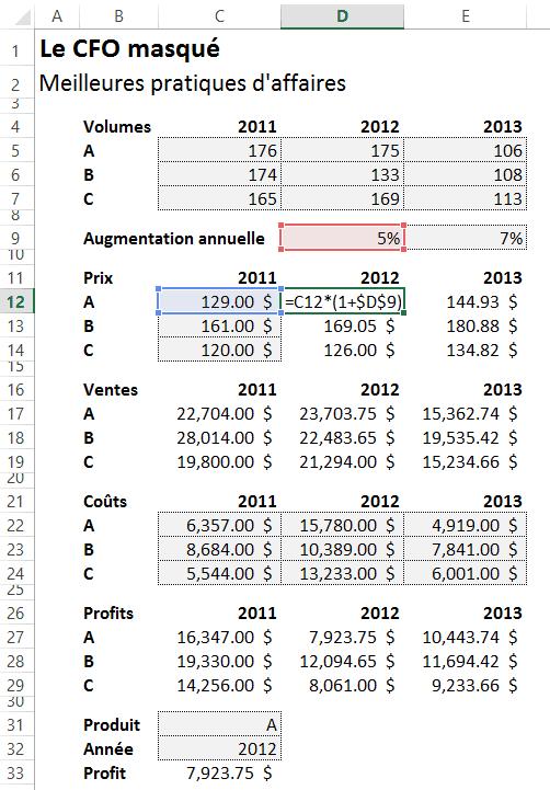 Ordre des calculs Excel