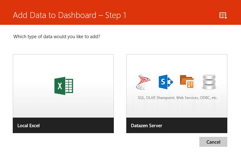 Datazen - Add data sources