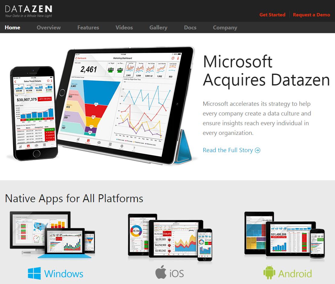 Microsoft acquires Datazen