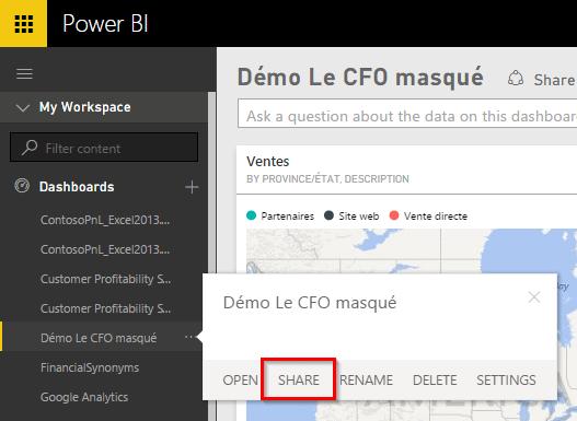 Power BI Share Dashboard