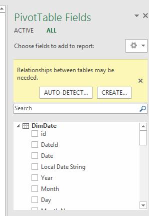 Pivot table auto-detect