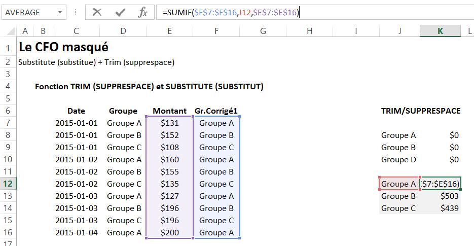 Substitue et Supprespace