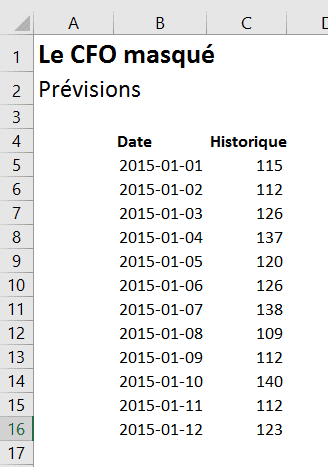 Excel - Prévisions