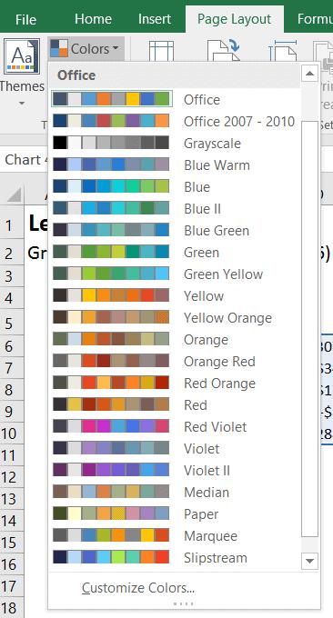 Excel 2016 les nouveaux graphiques en cascades waterfall for Agencement de couleur