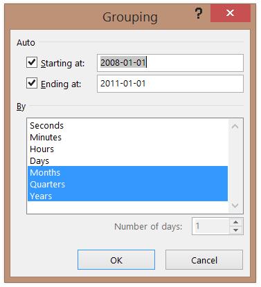 Tableaux croisés dynamiques Excel 2016