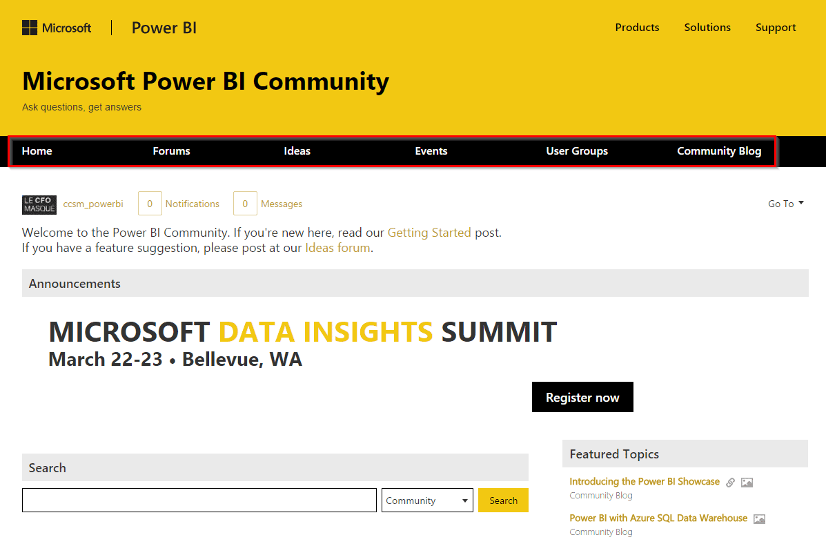 Groupes d'usagers Power BI