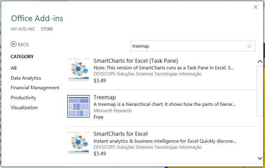 Treemap - Office app