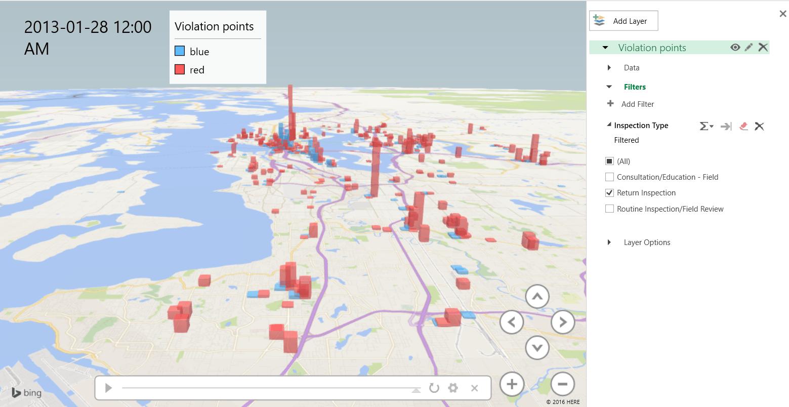 3D maps Filter Applied