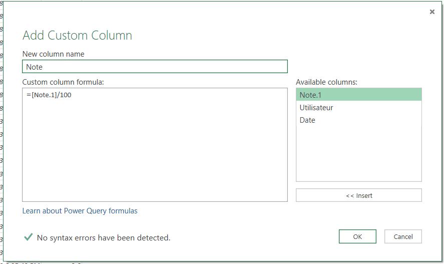 Calendrier Microsoft Exchange Colonne personnalisée