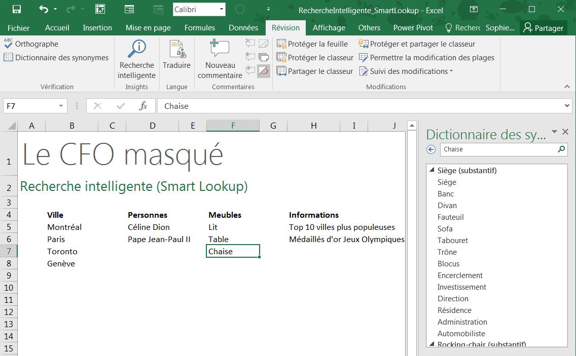 Dictionnaire Des Synonymes Le Cfo Masque