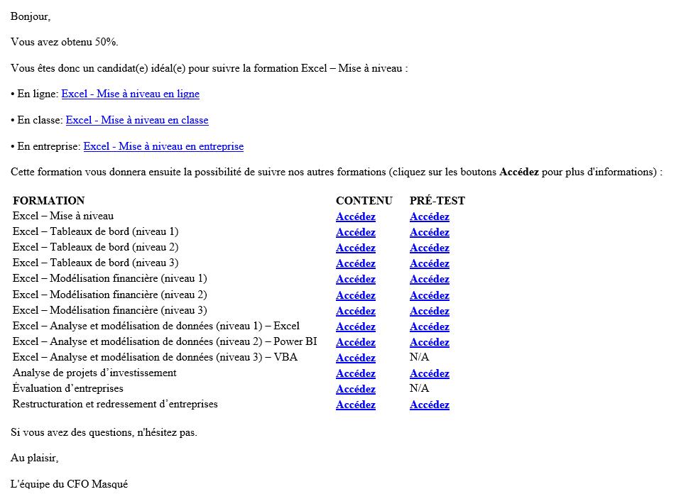 Exemple de courriel