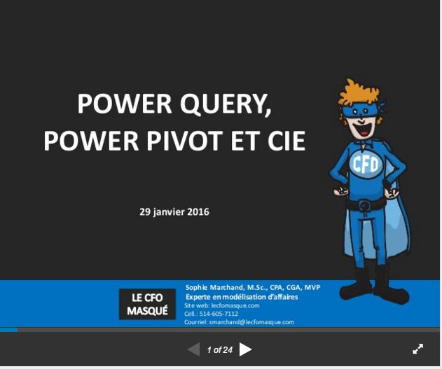 Power Query, Power Pivot et cie