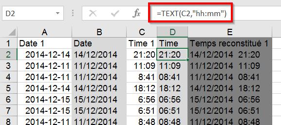 Traiter dates et temps dans Excel